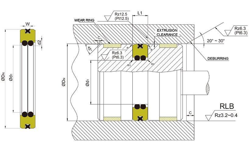 Custom pneumatic seal kit for business for pneumatic equipment-1