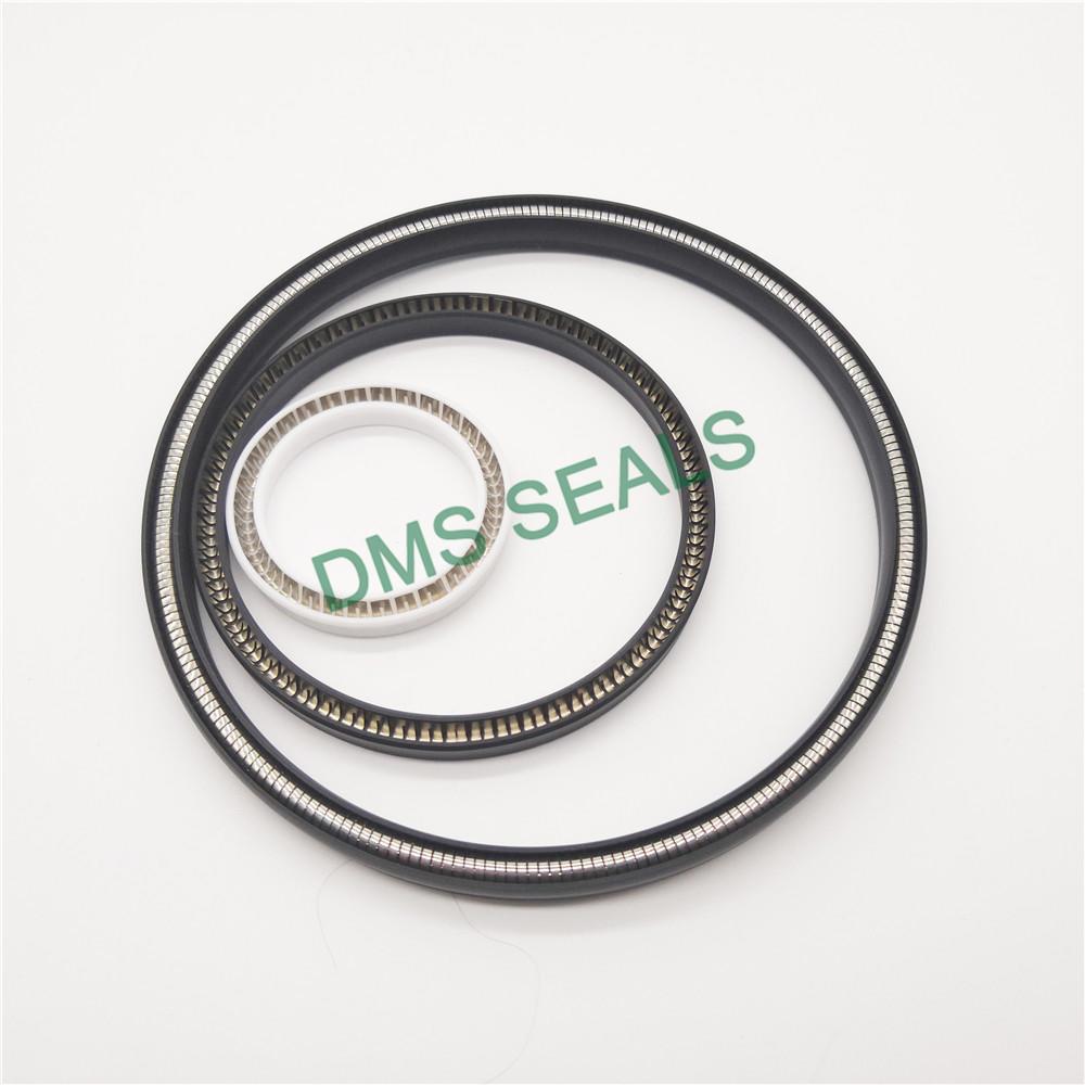 Carbon fiber filled PTFE spring energized seal