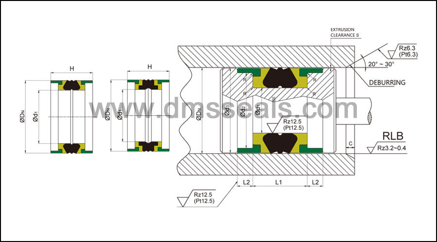 hydraulic ptfe piston seals DMS Seal Manufacturer Brand