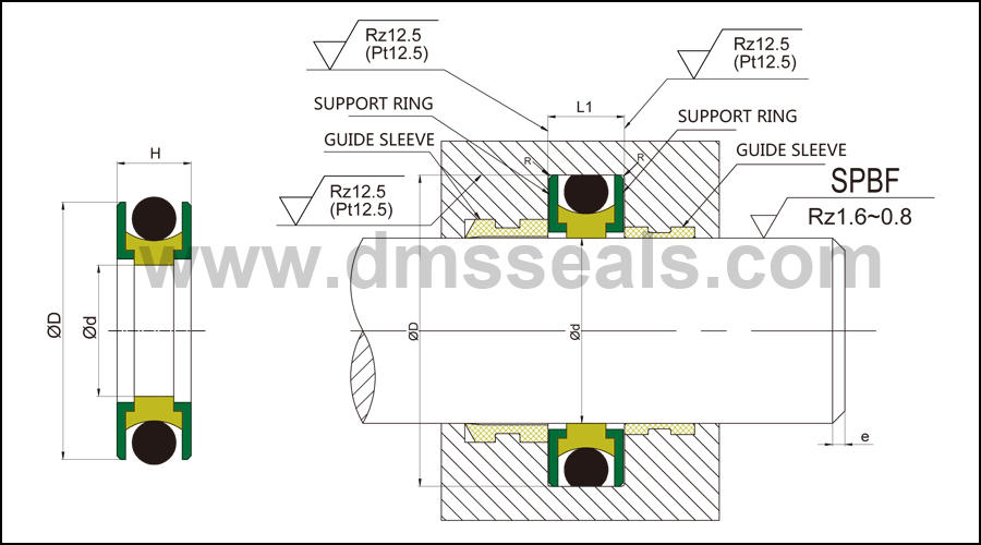 DMS Seal Manufacturer high quality rod seal catalogue with nbr or fkm o ring for sale