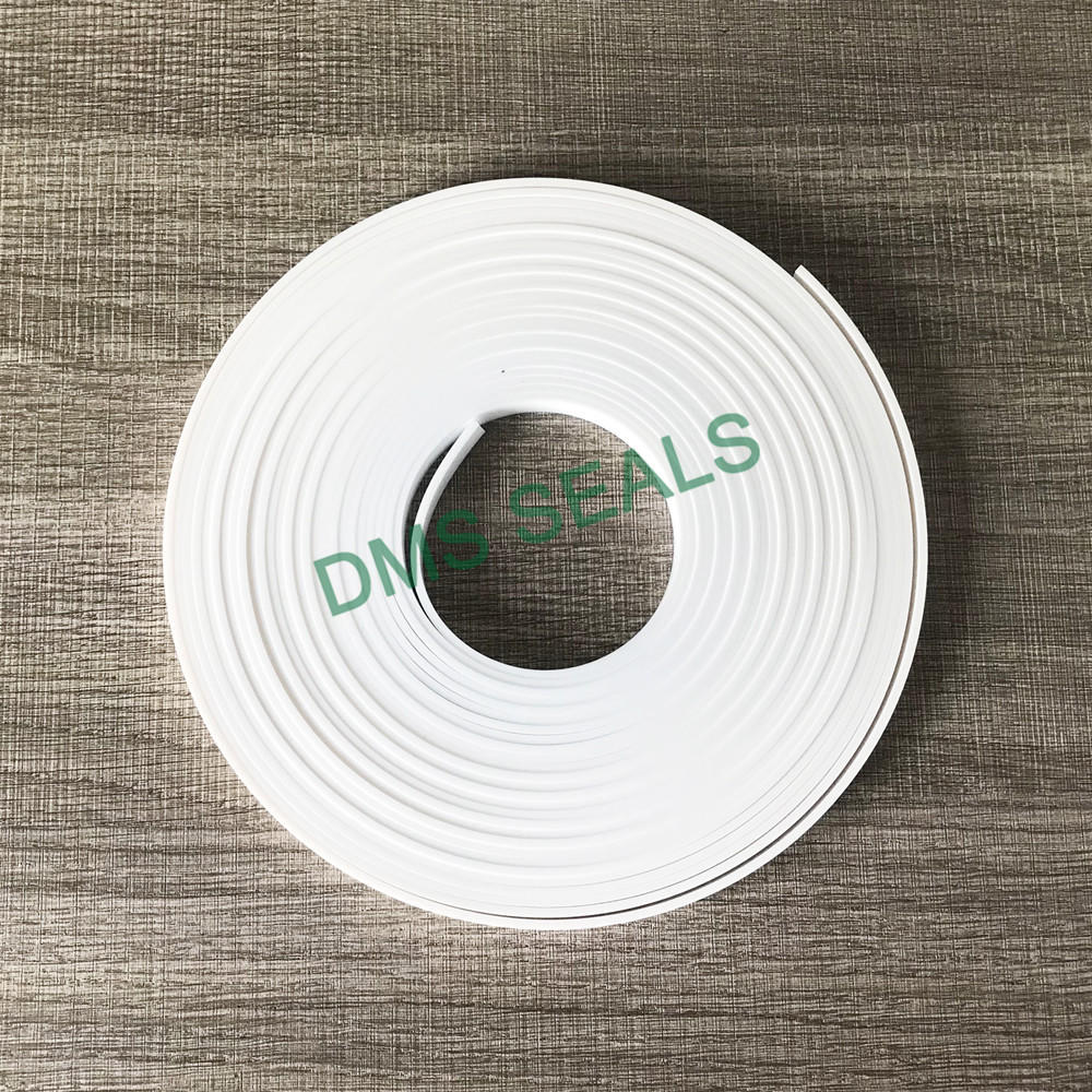 White virgin PTFE guide strip