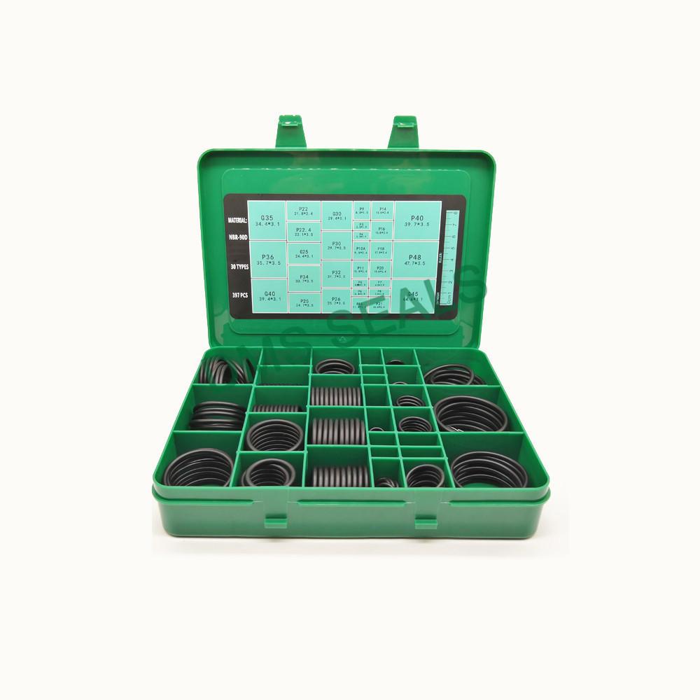 P,G standard metric NBR90 O-Ring kit assortment 397 pieces