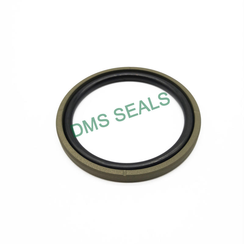 GSF Straight Groove- Bronze PTFE Hydraulic Piston Seal glyd ring with NBR/FKM O-Ring