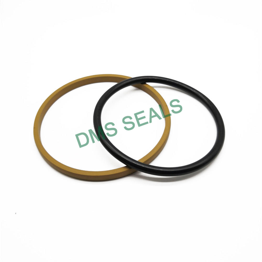 Yellow SPGO - PTFE Hydraulic Piston Seal with NBR/FKM O-Ring