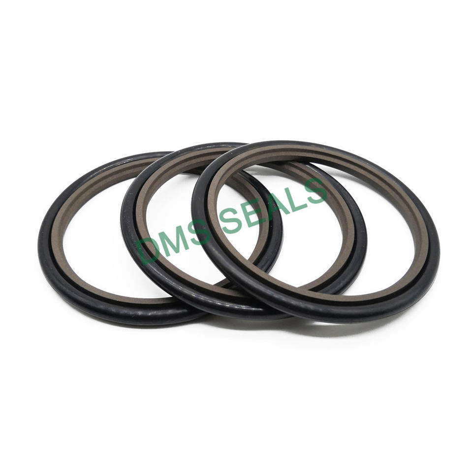 Hydraulic buffer rod seal Rubber PTFE HBTS Step seal GSJ