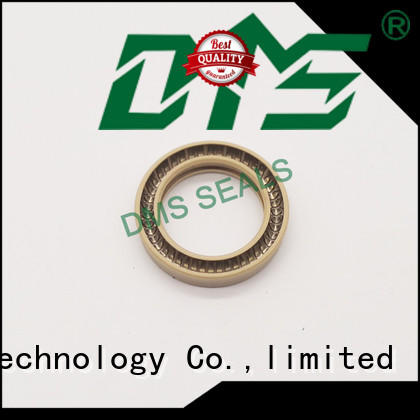 DMS Seal Manufacturer carbon fiber filled spring seals solutions for reciprocating piston rod or piston single acting seal