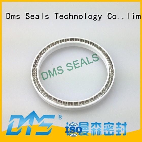 DMS Seal Manufacturer polyphenyl ester ekonol phb spring seals for reciprocating piston rod or piston single acting seal